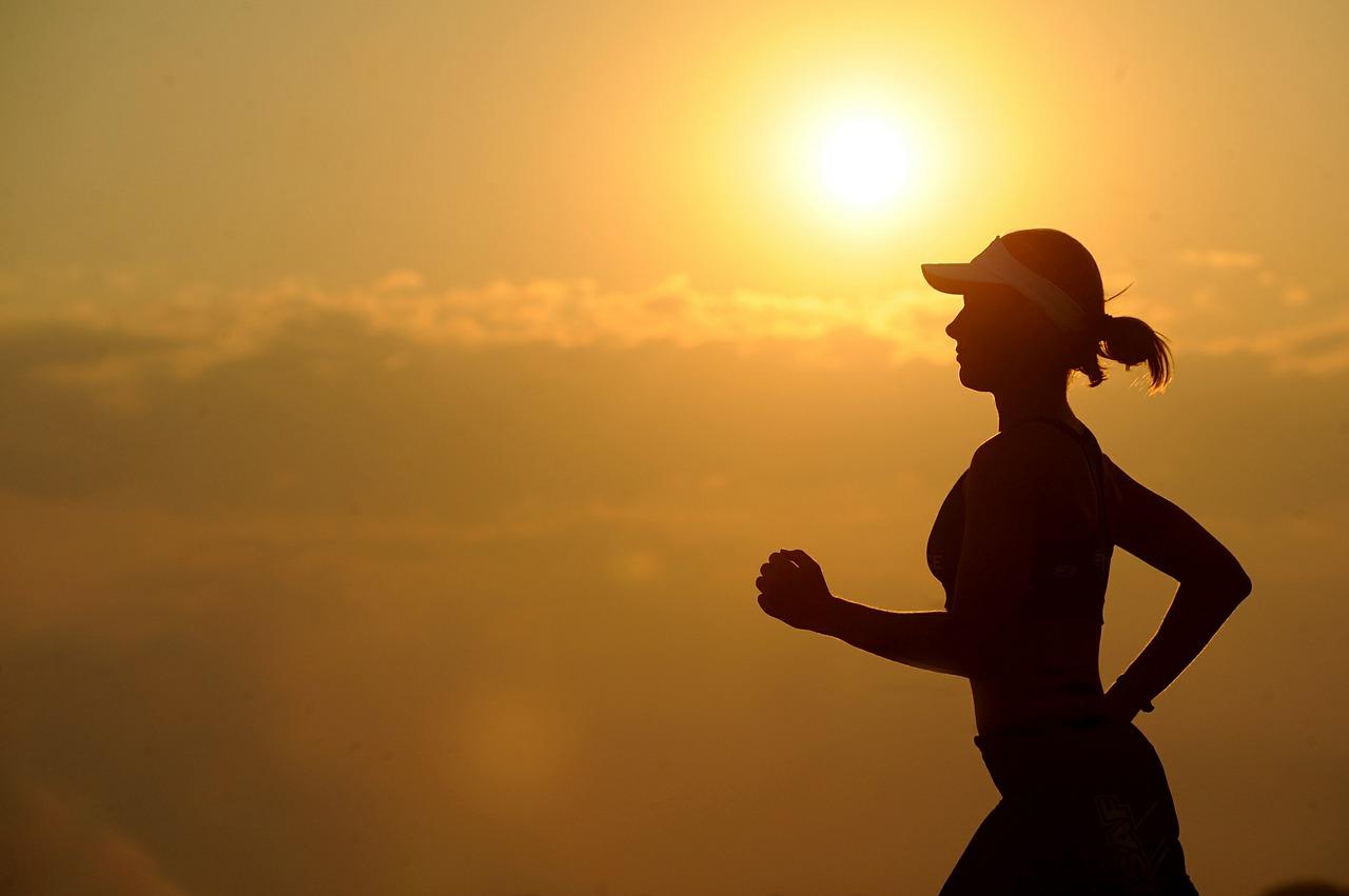 running in the sun